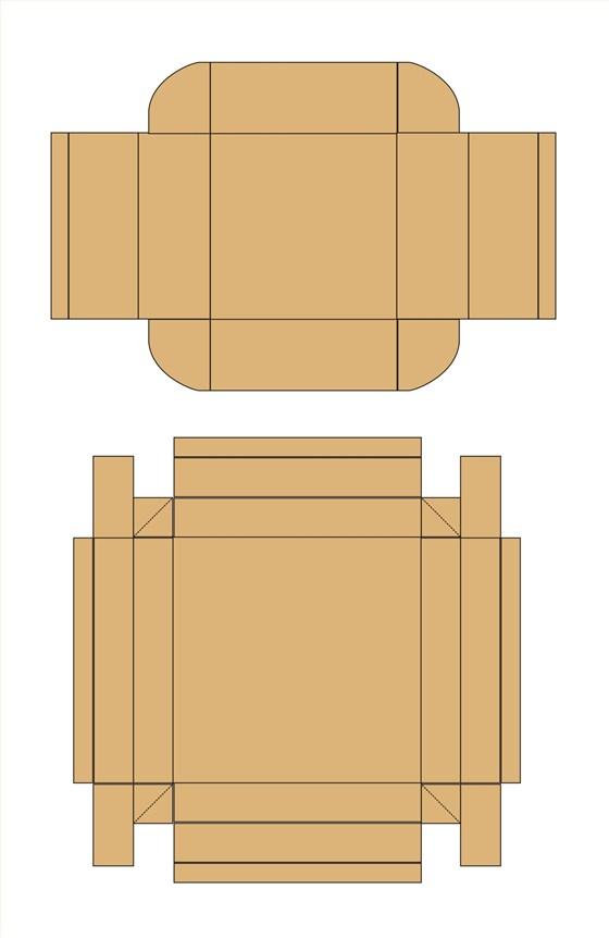 天地盖盒型设计展开图     包装样式像书本,包装盒从则面打开.图片