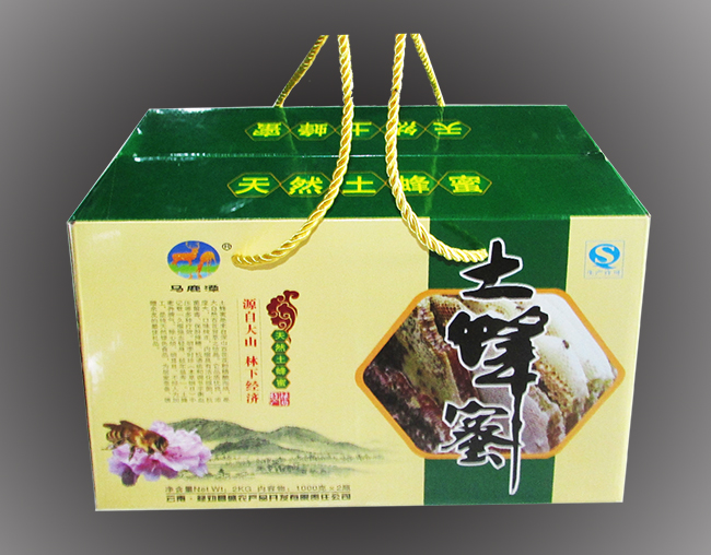 土蜂蜜手提包装盒